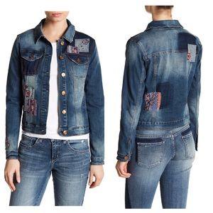 Vintage America Blues Lena EmbroideredDenim Jacket